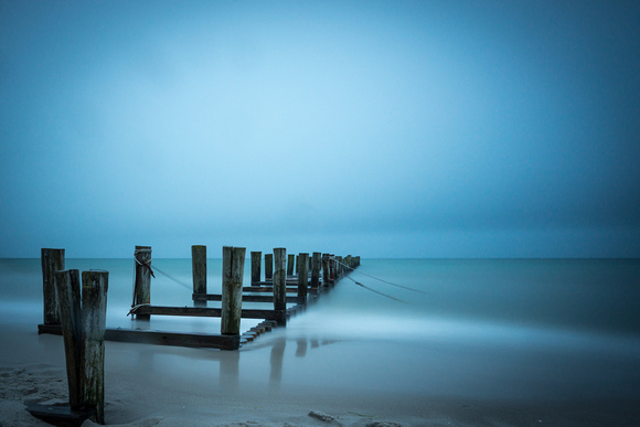 Buhne in Zingst Blue
